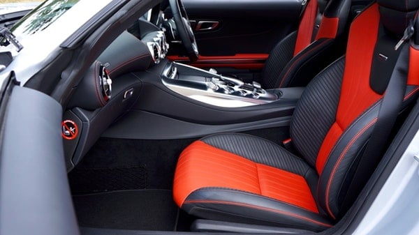 red car upholstery seat