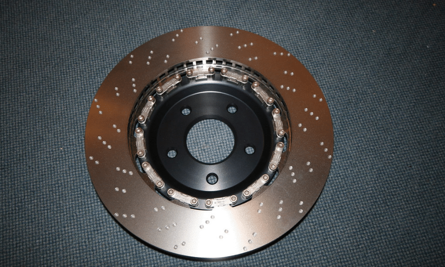 front disk rotor in a fabric